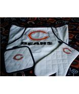Chicago Bears Tailgate 3pc Set BBQ Apron/Mit/Holder NIPs - $18.99