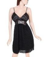 Cruise Party Formal Prom Ruffle Black Jr Dress 1 XL - $29.99
