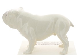 Hagen-Renaker Miniature Ceramic Dog Figurine Bulldog Standing White image 3