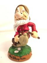 Snow White And The Seven Dwarves Grumpy Golf Bobblehead Walt Disney World Figure - $39.59