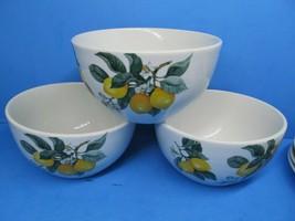 """Royal Norfolk Lemon 5 1/2"""" Cereal Bowls Set Of 3 Bowls - $19.59"""