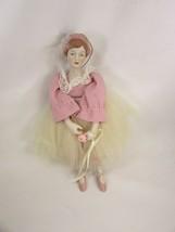 Vintage Schmid Ballet Doll Ornament Christmas Pink 50047 - $29.69