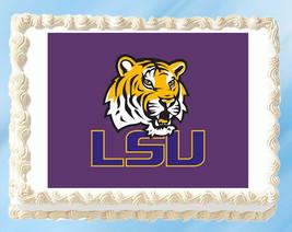 """LSU Tigers Edible Image Topper Cupcake Cake Frosting 1/4 Sheet 8.5 x 11"""" - $11.75"""