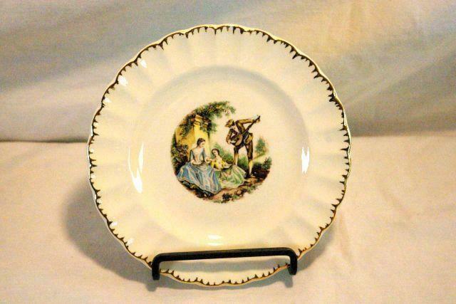 "Sebring Pottery Serenade #1K-G.F.E. Bread Plate 6 1/4"" - $3.46"