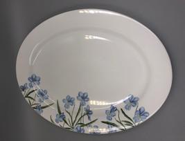 """New! Martha Stewart Blue Floral Porcelain Large Serving Platter 17"""" - $32.18"""