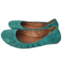 Lucky Brand Womens Ballet Flats Shoes Comfort Leather Blue Size 8.5 EUC - $32.65