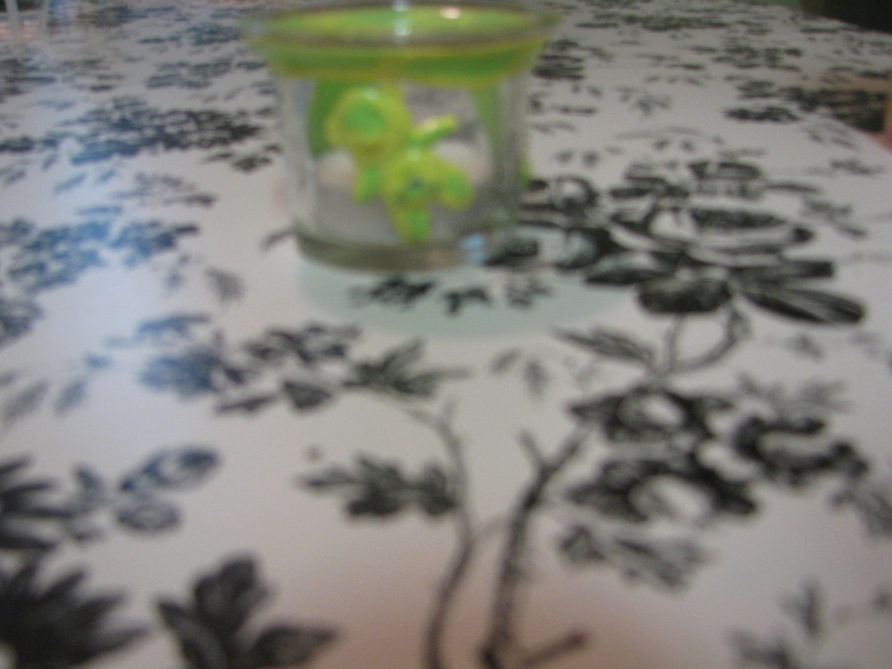 Green and Yellow Baby Polymer Clay Flower Votive Holder