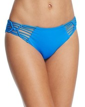 NEW BECCA Water Blue Electric Current Hipster Bikini Bottom Swimwear S ... - $19.79