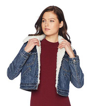Levi's Women's Button Up Sherpa Lined Styled Denim Jean Trucker Jacket 578940000 image 2