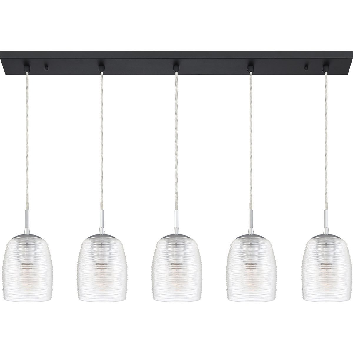 Primary image for Realm 5-Light Linear Chandelier in Earth Black