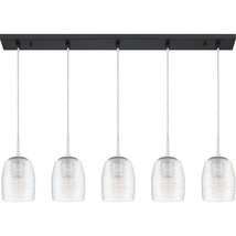 Realm 5-Light Linear Chandelier in Earth Black - $489.99
