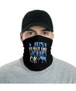 Wolf Lover Black Tube Bandanna Neck Gaiter face mask and neck warmer - $21.95