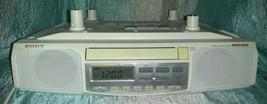 Sony Under Cabinet ICF-CD513 CD AM FM Clock Rad... - $29.69