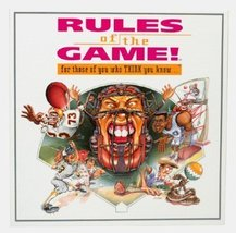 Rules of the Game! For those of you who Think you know...Sport Trivia Bo... - $13.66