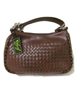 WOVEN LETHER SHARIF BROWN BAG,( NEW) WITH TAG - £21.78 GBP