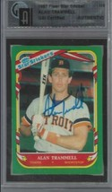 1987 Fleer All Star Sticker Alan Trammell  #118 Auto Compare to PSA / GA... - $39.55