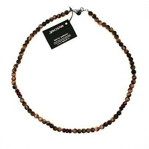 Silver Necklace 925 with Tiger's Eye and Agate Made in Italy by Maschia image 2