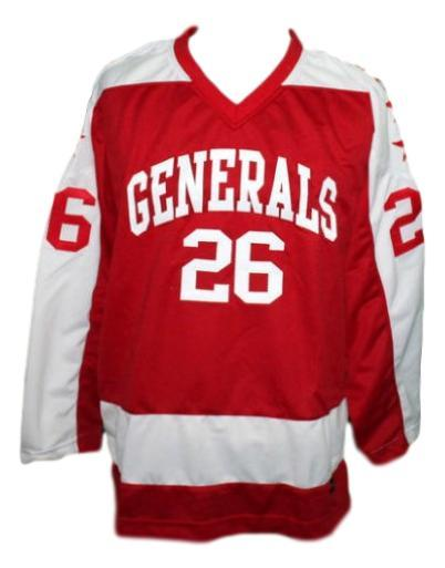 Custom name   greensboro generals retro hockey jersey red   1