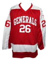 Custom Name # Greensboro Generals Retro Hockey Jersey New Red Any Size image 1