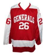Custom Name # Greensboro Generals Retro Hockey Jersey New Red Any Size - $54.99+
