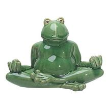 Pacific Giftware PT Meditation Lotus Pose Yoga Frog Ceramic Outdoor Figu... - $32.18