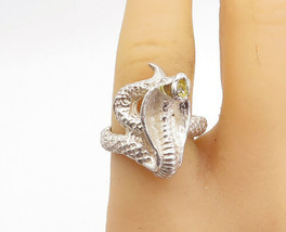 925 Sterling Silver - Vintage Shiny Sculpted Cobra Snake Band Ring Sz 8 ... - €50,69 EUR