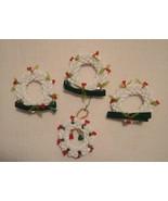 4 vintage wreath ornaments, Christmas beaded ornament, Christmas ornaments - $20.00