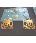 Wild Bryde 14K GF Bears in Squares Earrings - $16.00