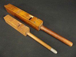 2 ANTIQUE organ pipes handmade wood ESTATE SALE St. Diar A old - $25.82