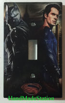 Batman VS Superman Light Switch Power Outlet Duplex wall Cover Plate Home Decor image 1