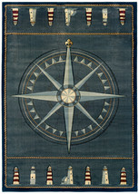 United Weavers Contours Compass Rose Smoke Blue Oversize Rug 7'10'' x 10'6'' - $399.00