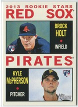 BROCK HOLT/KYLE MCPHERSON RC 2013 Topps Heritage #74 Boston Red Sox Card - $2.75