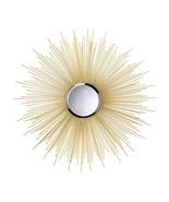 GOLDEN RAYS Wall Mirror Round Contemporary - $81.33
