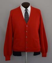 Vintage 60s Men's Alpaca Grandpa Cardigan Sweater Size Large to XL - $79.99