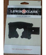 Lewis N Clark 450  Inflatable Neckrest - Black - WITH POUCH - BRAND NEW ... - $11.87