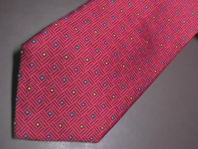Daniel De Fasson Neck Tie Hand Made Bright Red