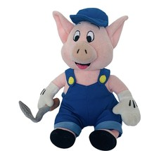 Walt Disney Store Plush vtg stuffed animal Three 3 Little Pigs RARE Bric... - $38.65
