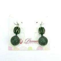 Premier Designs Silvertone Dangle Drop Mesh Fish Hook Earrings - $12.60