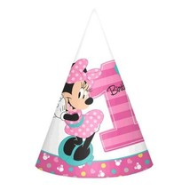 Minnie Mouse Fun To Be One 8 Cone Hats 1st Birthday Party - $5.22