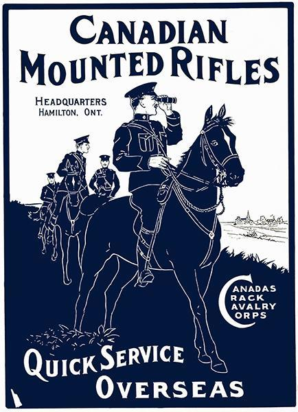 Primary image for Canadian Mounted Rifles - 1914 - Military Recruitment Poster