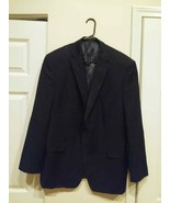 Calvin Klein Macy's Men's Store 46R Black Pinstripe 100% Wool Suit Jacke... - $19.80