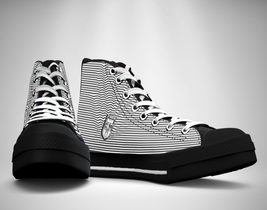 Lines  Canvas Sneakers Shoes - $49.99
