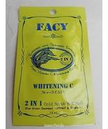 2x10ml. Facy Whitening C 2 in 1 Cold Scrub Mud Mask Blue Green Seaweed V... - $8.25