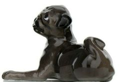 Hagen Renaker Dog Pug Baby Black Ceramic Figurine image 3