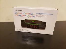 New Memorex Bluetooth Clock Radio with Wireless Charging MCBQ618B - $25.87