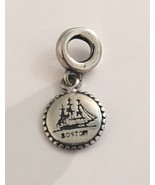 Genuine Pandora Sterling Silver Boston Dangle Charm Bead USB791169-G03 ... - $48.95