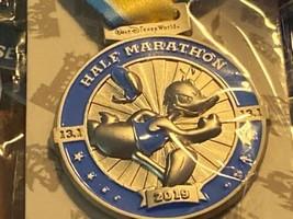 RunDisney 2019 Pin Half Marathon Weekend Disney Donald Duck Medal Ribbon 13.1 - $18.55