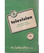 Hallicrafters Owner's Manual 1951 Television - $2.50