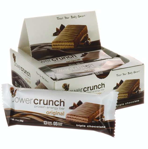 Keto food: Power Crunch low carb Triple Chocolate 12 Bars (9 net carbs)