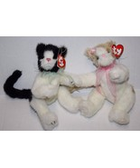 "Ty Beanie Babies CATS 10"" ARLEN ADELAIDE ATTIC TREASURES Plush Soft Toy ... - $24.16"